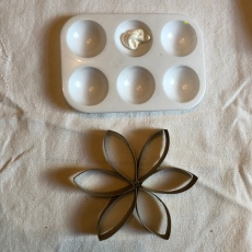 7. I used white acrylic paint to paint my snowflake but you could use any paint and any colour