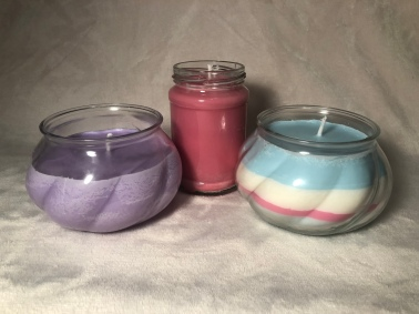 A few of the candles I have made recently!