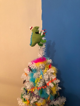 Christmas dinosaur from Mum and Dad